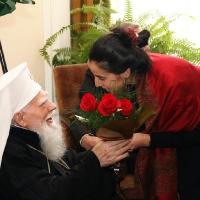 Блаженопочившия патриарх Максим и г-жа д-р Десислава Панайотова
